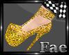 Golden Cascade Shoes