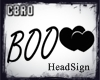 f Boo HeadSign