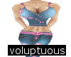 Blue Sweet Girl Fit volp