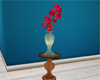 Lily vase on table