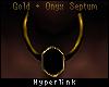 -Gold/Onyx Septum.-