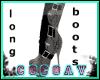 [cv]Buckle boots-grey
