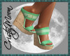 *CM*GRETA WEDGES-GREEN