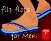 Summer Flip Flops-Blue