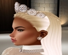 Bride cream earrings