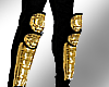 Gold MJ Shin guards