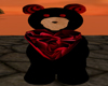 Red and Black Heart Bear