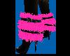 Pink fur shoes