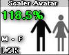 Scaler Avatar M F 118.5%