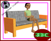 Modern Couch (Sand Wood)