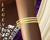 Gold 3 Ring Armband