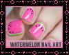 !i Nail Art watermelon