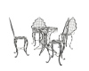 Outdoor Table Set/Silver