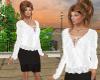 TF Lace Top Fringe Skirt