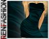 $R Teal Silk Dress