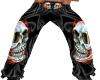 Flaming Skull Pants