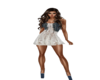 Lace and Denium Dress