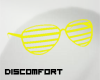 *D lined glasses YELLOW