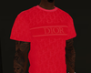 Red  Oblique Shirt -