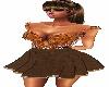D. Brown Short Dress
