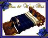 Blue & Wood Bed