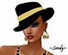 Fedora Black and Gold