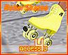 ! Yellow Roller Skates
