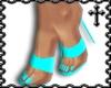 * Teal Strap Heels V1