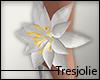 tj:. White Lily Anklet