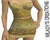 Gold link dress