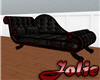 JF Black Leather Chaise