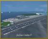 Very large runway night