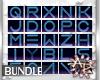Neon Blue Alphabet Bundl