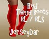 Red Thigh Boots
