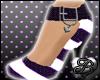 [B] Purple Pearls Pumps