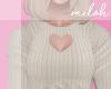 [M] Heart top - beige