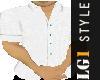 LG1 White Linen Shirt