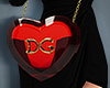 . heart-shaped bag