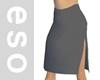 Gray Slit Skirt