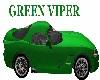Viper Green Sports Car