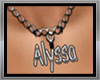 Necklace Alyssa name
