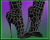 Dark Bling Knee Boots
