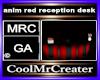 anim red reception desk