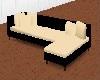 black and cream sofa