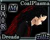 [zllz]M Dreads Black Red