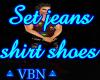 Set jeans shirt shoes BJ