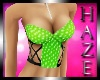 *Haze* Bustier Green
