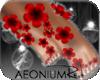 ! 117 Flower Feet Red