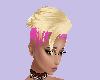 blonde shaved pink