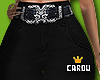 c. black with belt RL
